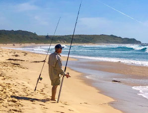 Go fishing on or off shore